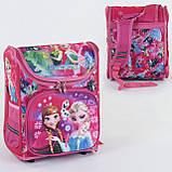 Рюкзак шкільний ортопедичний каркасний ранець для дівчинки 1 2 3 клас Рожевий (76922), фото 2