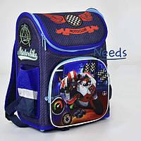 Рюкзак школьный City Спортивный байк 35х25х18 см 1 отделение, 3 кармана, ортопедическая спинка для мальчиков Синий