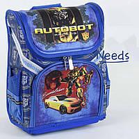 Школьный рюкзак для мальчика ортопедический каркасный ранец 1 2 3 класс Синий (76927)