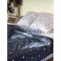 Комплект постельного белья Kris-Pol Stars Бязь №147413-2е на резинке двуспальный евро 200х220