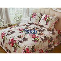 Комплект постельного белья Kris-Pol Velo Бязь №147237-2е на резинке двуспальный евро 200х220