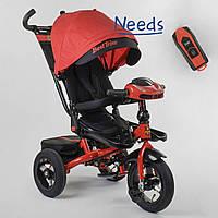 Велосипед детский трехколесный с родительской ручкой Best Trike с поворотным сидением Красный (87786)