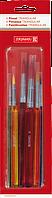 Набор школьных кистей Brunnen 6 штук пластиковые ручки 1048932