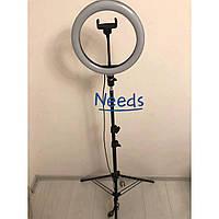 Кольцевая светодиодная LED лампа RNG Lamp SVE26 26 см 20 Вт со штативом, держателем для телефона и регулировкой света