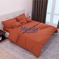 Комплект постельного белья Kris-Pol Кирпичный №541340-2е Страйп Сатин двуспальный евро 200х220