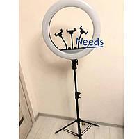 Кольцевая светодиодная LED лампа RNG Lamp M45 профессиональная 45 см 55 Вт с регулировкой света + штатив, пульт