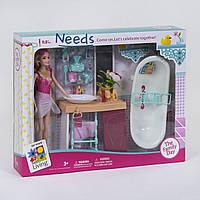 Игровой набор Xiong Cheng Ванная комната с куклой 29 см и аксессуарами