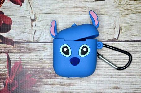 Чехол для наушников для Apple AirPods Аирподс - Стич, фото 2