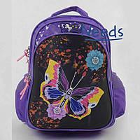 Школьный рюкзак для девочки первоклассницы ортопедический. Ранец портфель в школу Фиолетовый (88139)