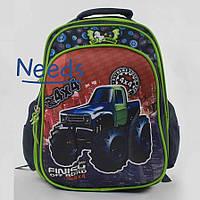 Школьный рюкзак для мальчика первоклассника ортопедический. Ранец портфель в школу Темно-синий (86444)