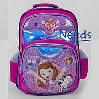 Школьный рюкзак для девочки Принцесса София. Ранец портфель в школу для первоклассницы розовый (86663)