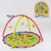 Развивающий игровой коврик для младенцев Baby Carpet 008 с подвесками