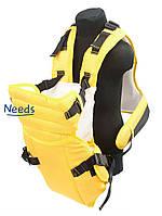 Рюкзак-кенгуру For Baby 12y для переноски детей Желтый