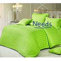 Комплект постельного белья Kris-Pol Lime №545910-2е Страйп Сатин двуспальный евро 200х220