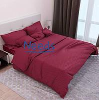 Комплект постельного белья Kris-Pol Гранат №541652-2е Страйп Сатин двуспальный евро 200х220