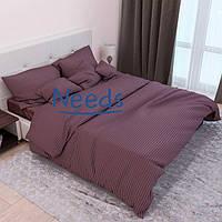 Комплект постельного белья Kris-Pol Шоколад №541420-2е Страйп Сатин двуспальный евро 200х220