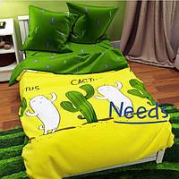 Комплект постельного белья Kris-Pol Cactus Бязь №15529-2е двуспальный евро 200х220