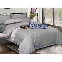 Комплект постельного белья Kris-Pol Grey №545102-2е Страйп Сатин двуспальный евро 200х220