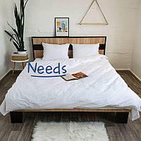 Комплект постельного белья Kris-Pol Zefir №54321-2е Страйп Сатин двуспальный евро 200х220