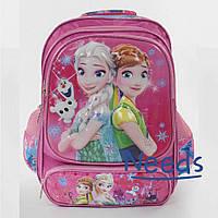 Школьный рюкзак для девочки Фрозен. Ранец портфель в школу для первоклассницы Розовый (86429)