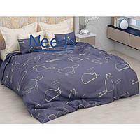 Комплект постельного белья Kris-Pol Cats Бязь №154213-2е двуспальный евро 200х220