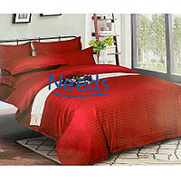 Комплект постельного белья Kris-Pol Bordo №551758-2е на резинке Страйп Сатин двуспальный евро 200х220