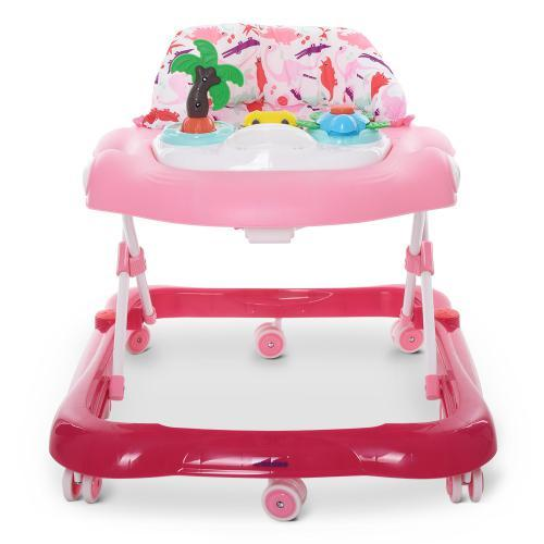 Детские ходунки ME 1052 с музыкальным блоком,музыкой,светом,розовый