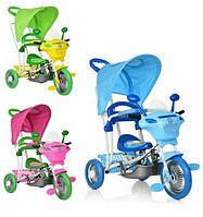 Велосипед коляска детский трехколесный Profi Trike B 3-9 / 6012 с родительской ручкой