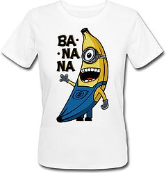 Женская футболка Fat Cat Миньон - Banana (белая)