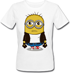 Женская футболка Fat Cat Миньон - Хулиган (белая)