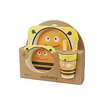 Набор детской эко-посуды из бамбука Elite Lux 5094 5в1 Пчела