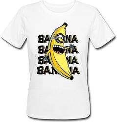 Жіноча футболка Fat Cat Міньйон - Banana, banana, banana, banana (біла)