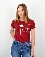 Женская футболка оверсайз оптом ОS0102 Бордо