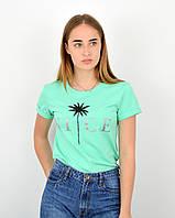 Женская футболка оверсайз оптом ОS0102 Мята