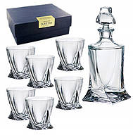 Набор для виски Quadro Графин +стаканы 340 мл - 6 шт Bohemia
