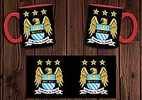 """Чашка """"ФК Манчестер Сити"""" / Кружка """"Manchester City"""" №1 Красный"""