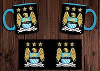 "Чашка ""ФК Манчестер Сити"" / Кружка ""Manchester City"" №1 Голубой"
