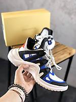 """Жіночі Кросівки Louis Vuitton """"Black Blue White"""" - """"Чорні Сині Білі"""""""