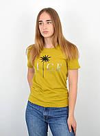 Женская футболка оверсайз оптом ОS0102 Горчичный