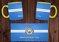 """Чашка """"ФК Манчестер Сити"""" / Кружка """"Manchester City"""" №2 Желтый"""