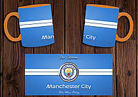 "Чашка ""ФК Манчестер Сити"" / Кружка ""Manchester City"" №2 Оранжевый"