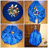 Коврик для игрушек LEGO - сумка для хранения игрушек 150 см - Синий, фото 5
