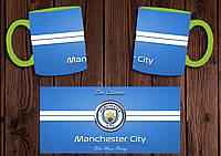 "Чашка ""ФК Манчестер Сити"" / Кружка ""Manchester City"" №2 Салатовый"