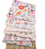 Хлопок для рукоделия, пэчворка, тильды, игрушек и домашнего текстиля - набор ткани 8 отрезов 40*50 см