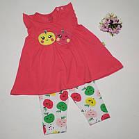 Детский летний костюм для девочки. Размеры от 68 до 86 см