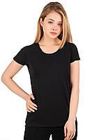 Легкая черная женская футболка «Fruit of the Loom»