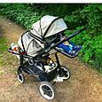 Детская прогулочная коляска Babyzz Dynasty для двойни с 2-мя прогулочными блоками (бежевая), фото 5