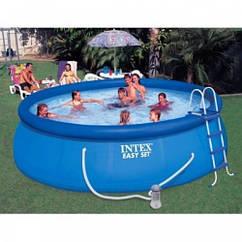 Надувной бассейн Intex с фильтр-насосом 28168 NP