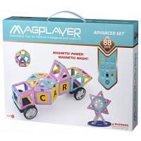 Конструктор Magplayer магнитный набор 88 эл. (MPH2-88)