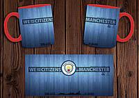 """Чашка """"ФК Манчестер Сити"""" / Кружка """"Manchester City"""" №3 Красный"""
